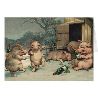 PIG PARTY NOTE CARD