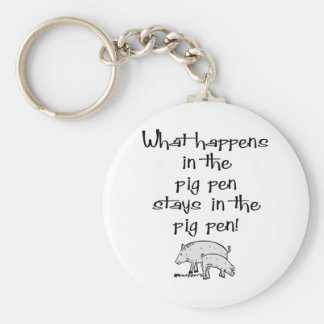 Pig Pen Basic Round Button Key Ring