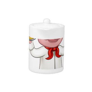 Pig Pizza Chef Cartoon Character Mascot