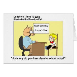 Pig Principal Funny Pig Cartoon Gifts & Tees Card