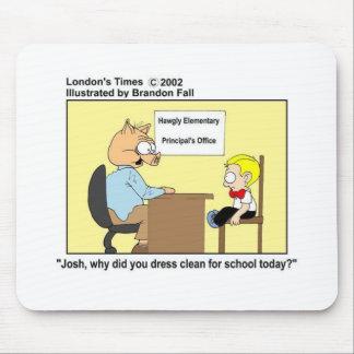 Pig Principal Funny Pig Cartoon Gifts & Tees Mouse Pad