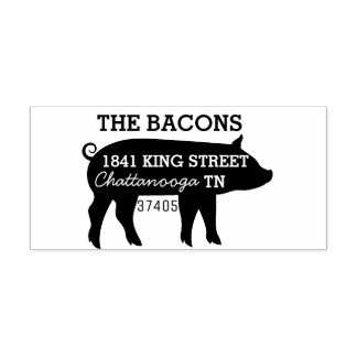 Pig Return Address Rubber Stamp