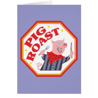 Pig Roast Greeting Card