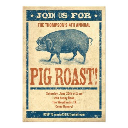 pig roast invitations 13 cm x 18 cm invitation card zazzle. Black Bedroom Furniture Sets. Home Design Ideas