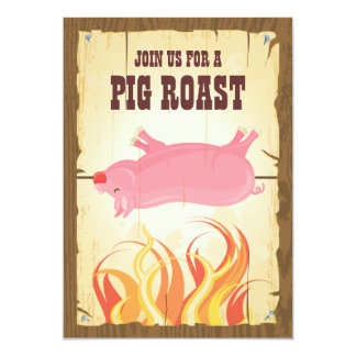 Pig Roast Party Invitation