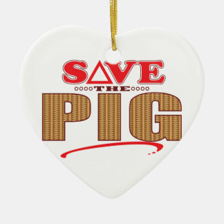 Pig Save Christmas Ornament