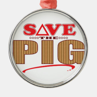 Pig Save Christmas Ornament