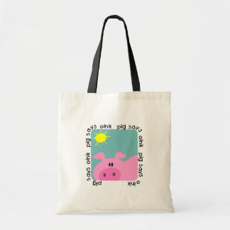 Pig Says Oink T-shirts and Gifts Canvas Bags