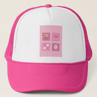 Pig & Sheep & Hearts Trucker Hat