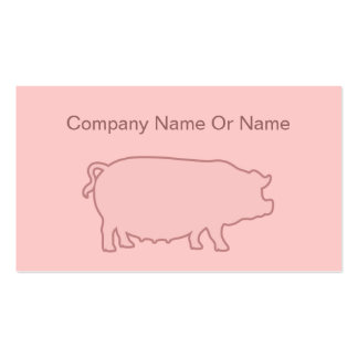 Pig Silhouette Business Cards