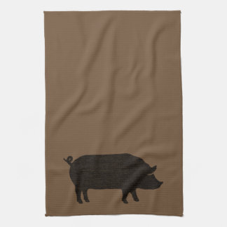 Pig Silhouette Tea Towel