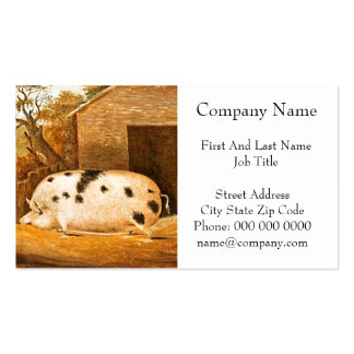 Pig Spotted Hog Vintage Farm Painting Business Cards