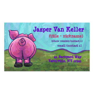 Pig Stationery Pack Of Standard Business Cards
