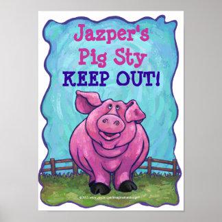 Pig Stationery Print