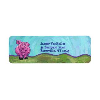 Pig Stationery Return Address Label
