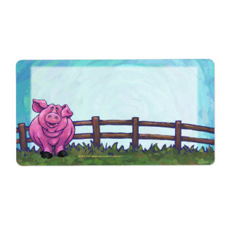 Pig Stationery Shipping Label