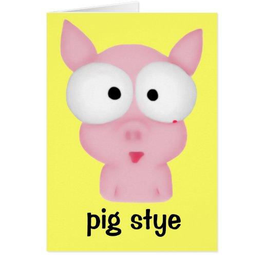 Pig Stye Greeting Card