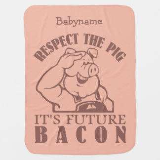 PIG TO BACON custom color baby blanket