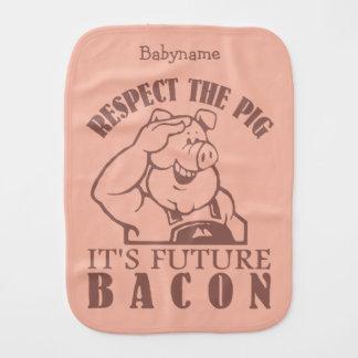 PIG TO BACON custom color burp cloth