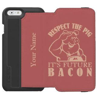 PIG TO BACON custom color cases Incipio Watson™ iPhone 6 Wallet Case