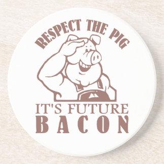 PIG TO BACON custom color coaster