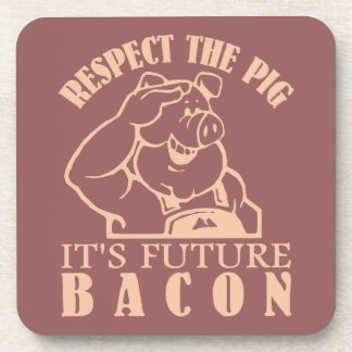 PIG TO BACON custom color coasters