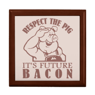 PIG TO BACON custom color gift / trinket box