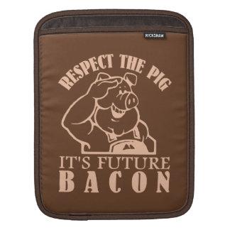 PIG TO BACON custom color iPad sleeve