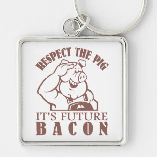 PIG TO BACON custom color key chain