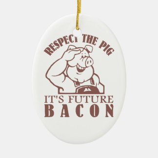 PIG TO BACON custom color ornament