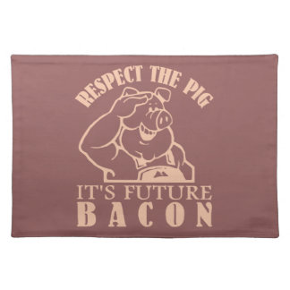 PIG TO BACON custom color placemat