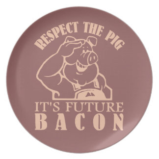 PIG TO BACON custom color plate