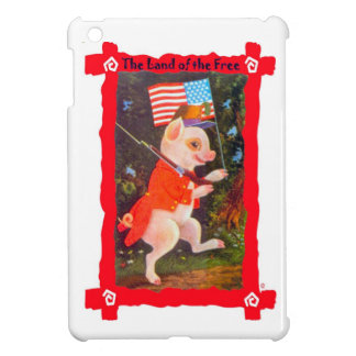 Pig with American flag Case For The iPad Mini