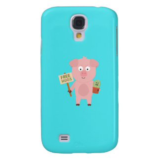 Pig with Cactus Q1Q Galaxy S4 Case