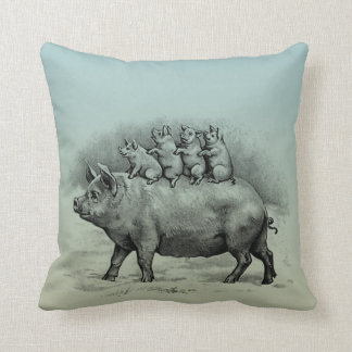 Pig with Piglets Cushion