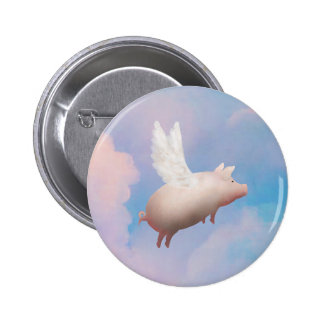 pig with wings button