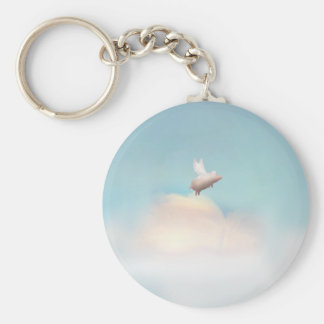 pig with wings keychain