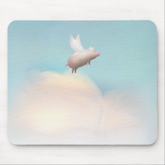 pig with wings mouse mat