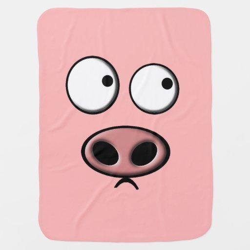 Pig Stroller Blanket
