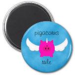 Pigacorns Rule 6 Cm Round Magnet