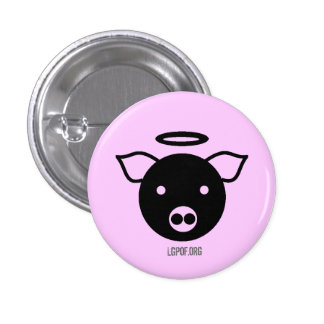 PiGcasso Art Exhibit - Angel Piggy Pinback Buttons