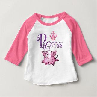 PIGCESS CUTE Baby American Apparel 3/4 Sleeve Ragl Baby T-Shirt