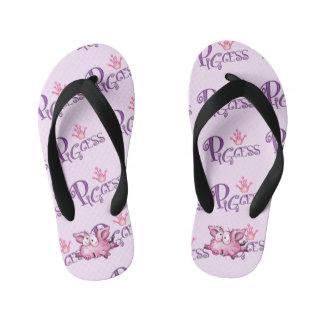 PIGCESS Flip Flops Kids  Toddler BLK