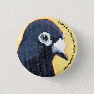 pigeon 3 cm round badge