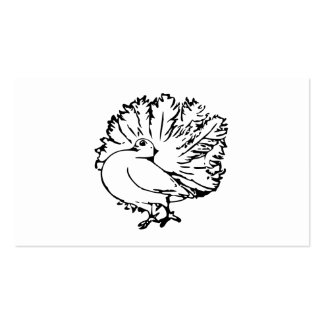 Pigeon 4 Black and White Illustratiom Pack Of Standard Business Cards