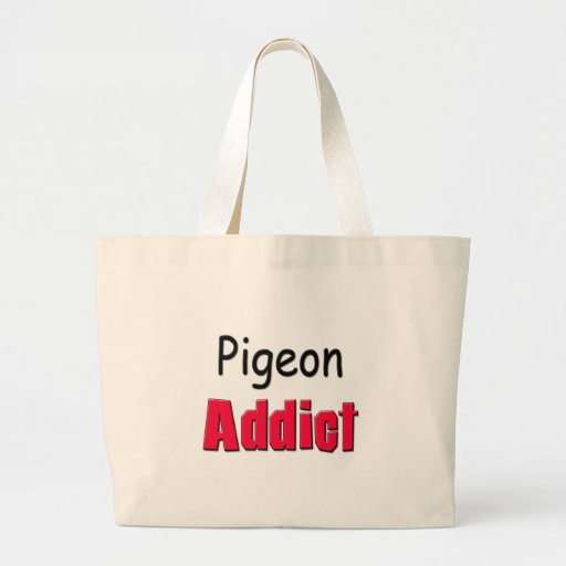 Pigeon Addict Tote Bags