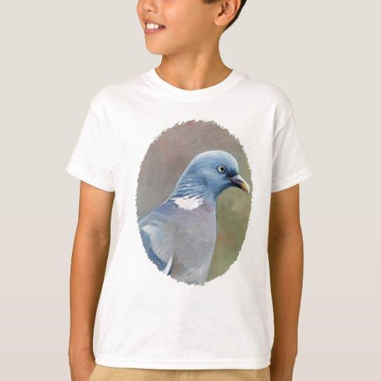 Pigeon Bird Art Kids t shirt