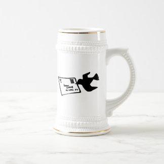 Pigeon Bird Delivering Mail Coffee Mug