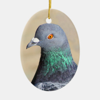 Pigeon Ceramic Oval Decoration
