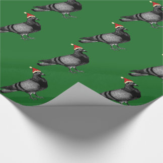 pigeon christmas wrapping paper